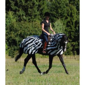 Bucas Buzz-Off Zebra ridedækken