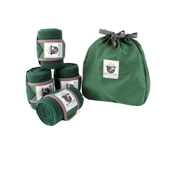 Mink Horse Bandager - Elastik, med velcro, 4-pakning