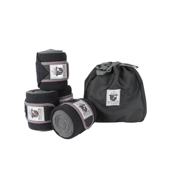 Mink Horse Bandager kombinerede af luksus-fleece/elastik med velcro lukning, 4-set