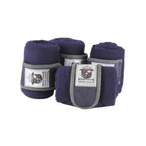 Mink Horse Eksklusiv strik-bandage med dobbelluk i navy
